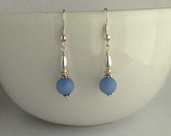 Periwinkle Blue Dangle Earrings/Blue Drop Earrings/Gifts under 20/BFF Gifts/Gifts for Her/Stocking Stuffers for Her/Stocking Stuffers/E2