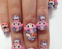"3D nail art parts 10 set ""Halloween My melody design"""