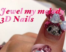 "3D nail art parts 10""Glitter My melody design"""