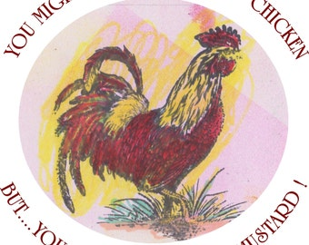 Spring Chicken Note Cards- Old School saying