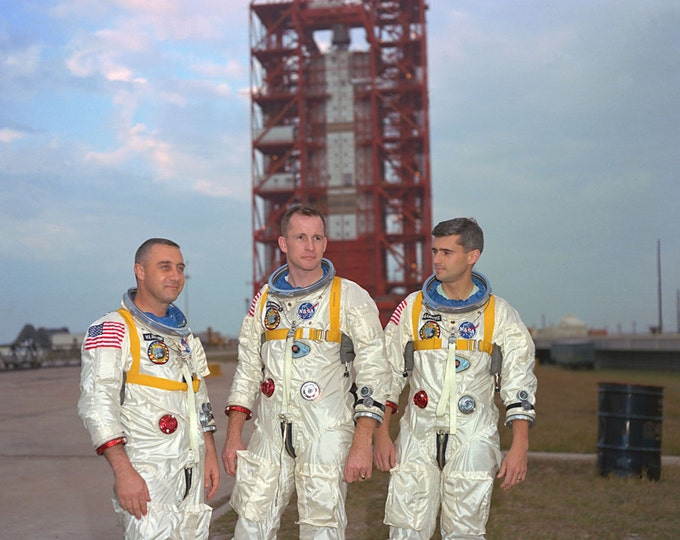 Apollo 1 Astronauts Gus Grissom, Ed White and Roger Chaffee - 5X7, 8X10 or 11X14 NASA Photo (EP-443)