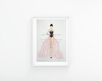 Constance - Instant Download Fashion Illustration