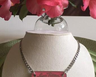 Necklace with authentic  Louis Vuitton charm
