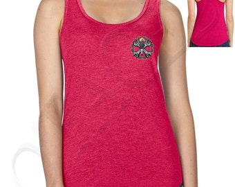 Wrenches Gear Ladies Racer Back Tanks Wrenches Gear Spark Plug Racerback Mechanic Design Women's Tank Top - 1343P_ALTT