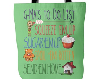 G-Ma Tote - G-Ma's To Do List Tote - Grandma G-Ma Bag- Best G-Ma Gift - Tote Bag for G-Ma