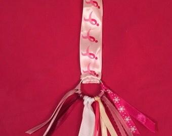 Think Pink Ribbon keychain