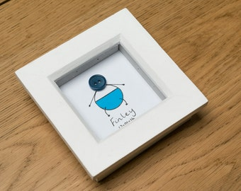 Personalised New Baby Picture - includes frame