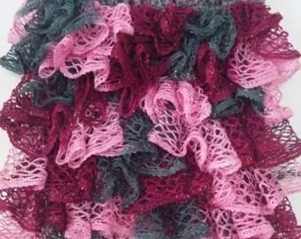 Handmade ruffled flounce yarn skirt