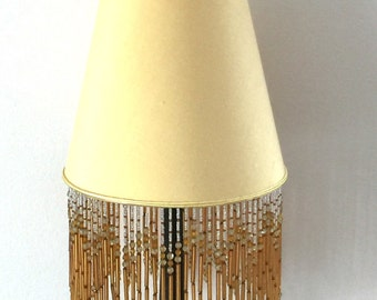 Lampshade lamp shade antique glass fringe silk