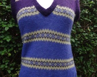 French Connection purple 70's style mohair vest top, ladies Uk size 8