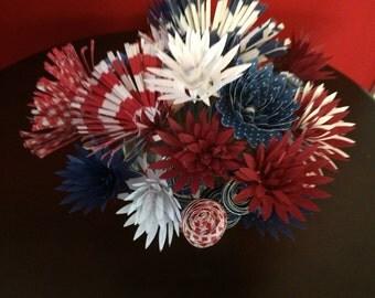 custom patriotic paper flowers