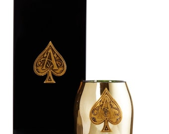 Ace of spades handmade candle