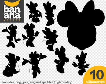 SALE Minnie Mouse png jpg svg eps files high resolution BV-FA-0044