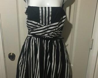 Vintage Speechless Black & White Dress *size 9 *removable straps*