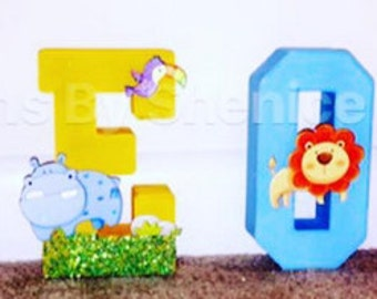 """6"""" BABYBOY THEMED LETTERS"""