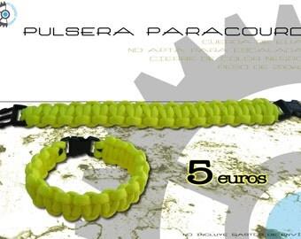 Paracord 550 US - fluorescent yellow bracelet