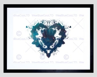 Scottish Painting Graphic Ink Splat Thistle Heart Evry Art Print Poster FEHP023
