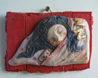 Silence! -hanging sculpture