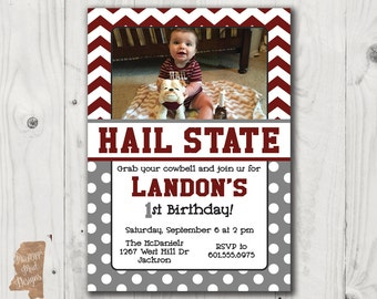 Birthday Invitation - Mississippi State photo