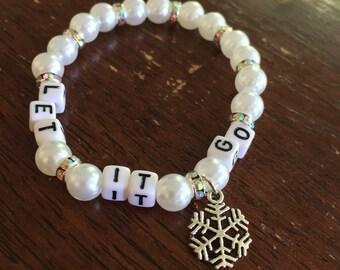Let it Go // frozen bracelet // charm bead bracelet // the χ collection