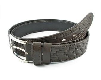 brown leather belt-men belt-mens brown belt-men brown leather belt-waist belt-jeans belt-brown waist belt-brown thick belt-belt for suit