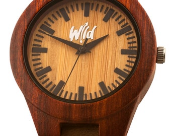 FREE Engraving Wood Watch, Womens Watch, Gifts for her, Girlfriend Gift, Anniversary Gift, Custom engraving, Watch Personnalized, SM113