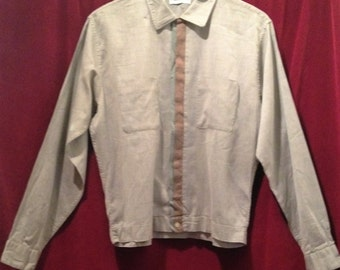 VINTAGE 1950's Men's Shirt Jacket / L / PURITAN sportswear / Crew Cutter.