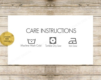 Laundry care card, care instructions card, garment care card, fabric care card, card card download, laundry care card download