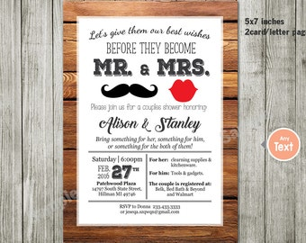 Items similar to Couples or Coed Bridal Shower Printable
