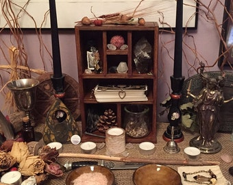 Crystal Shelf, Altar Shelf, Pentagram