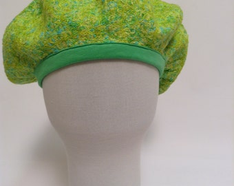 Women beret, green beret, both sides beret.