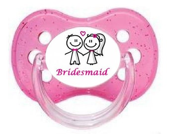 UNIQUE Dummy Pacifier Soother, All Teats, Sizes & Colours, BRIDESMAID 9