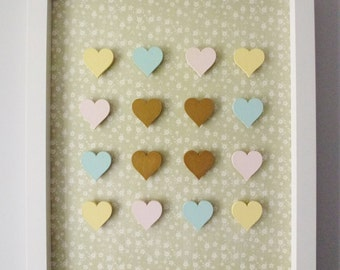Wooden Hearts Collage Print