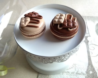 2 magnets two chocolates in fimo macaroons