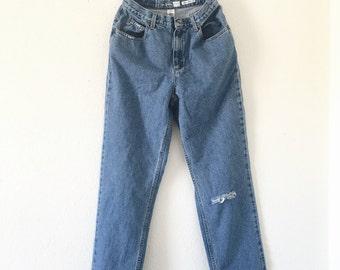 Vintage High Low Hem Jeans