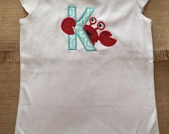 Inital crab shirt