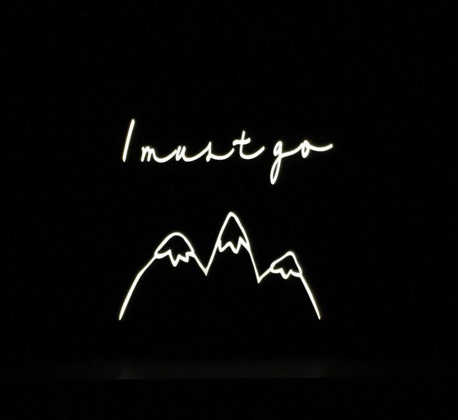 neon light sign neon sign mountains are calling night light light up sign hippy decor light up letters welcome sign wall decor