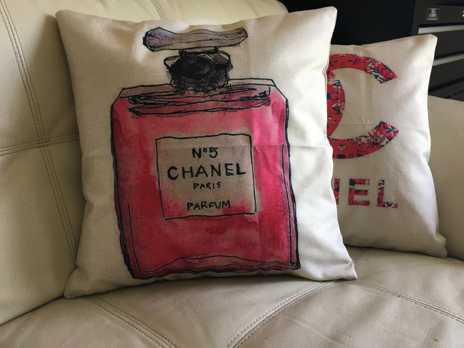 Chanel decorative throw pillow cover