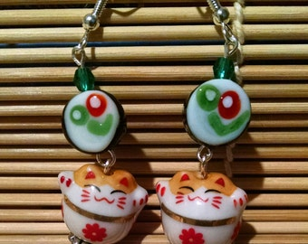 Sushi Cat Earrings