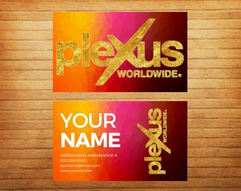 PRINTED Colorful Metallic Foil Business Cards - Front & Back - Matte Finish