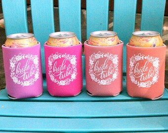 Bachelorette Party Can Cooler | Bride Tribe Wedding Can Cooler | Bridesmaid Gift | Bachelorette Party Favors | Ready to Ship Can Huggers