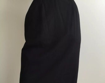 Vintage Valentino Miss V High Waisted Pencil Skirt Black Sz 38