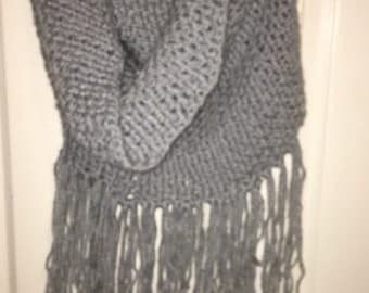 Hand crochet women's cowl