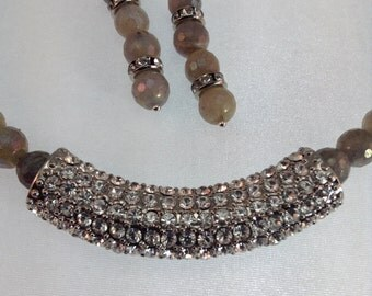 Custom one of a kind Necklace and earrings set
