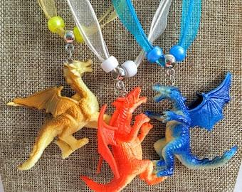 10 Dragon Necklaces Multicolor party favors