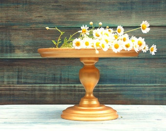 Custom Gold wedding cake stand Wooden cake stand Gold cake Stand for Wedding Cake stand Wood Gold cake Stands Wedding Gold cake stand Wooden
