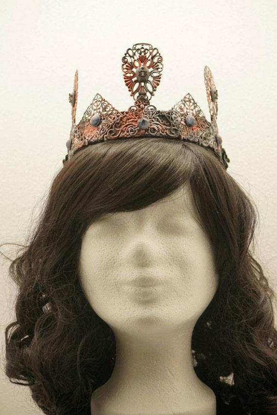 Steampunk Crown / Crown in copper-silver