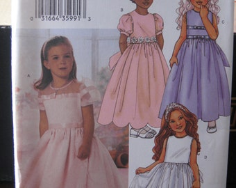 Pattern BUTTERICK 3704 (dress girl)