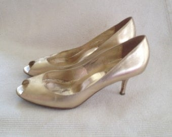 GOLDEN DUNE STILETTO HEEL