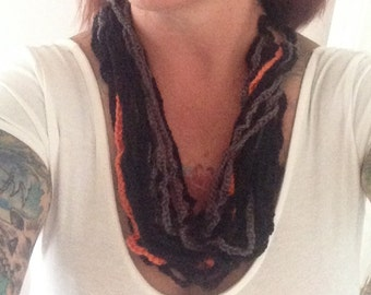 3-Tone Crochet Necklace